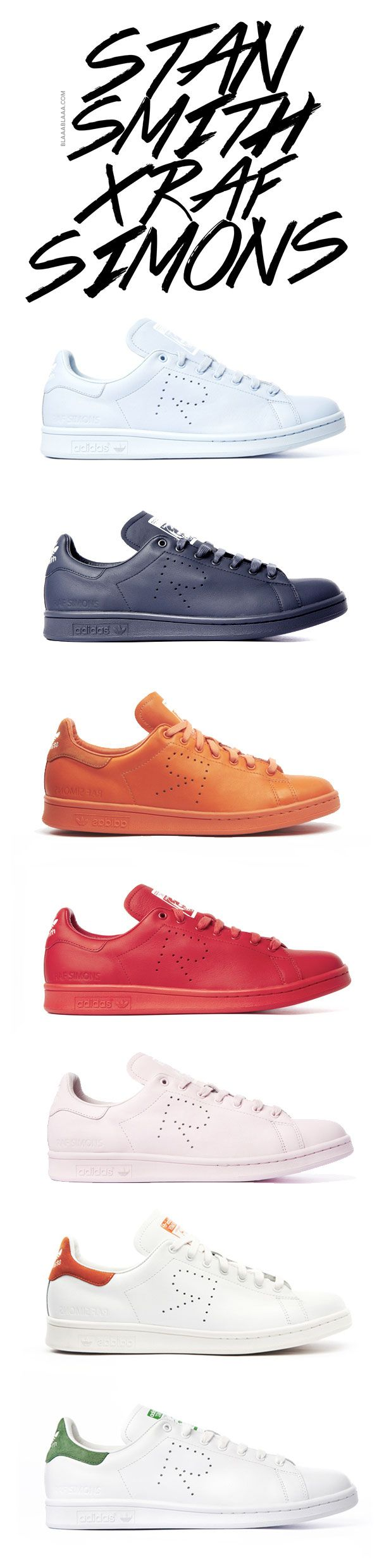Stan Smith x Raf Simons……re pinned by Maurie Daboux 웃╰☆╮