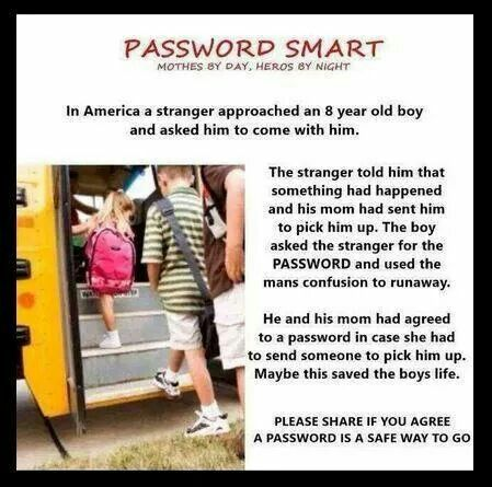 I did this for my girls, both are adults but still remember their password name. PLEASE DO THIS FOR YOUR CHILDREN!