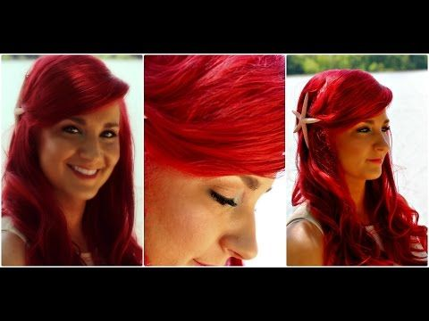 ▶ The Little Mermaid Hair Tutorial - Ariel Mermaid Hairstyle With Big Swoop Bang - YouTube