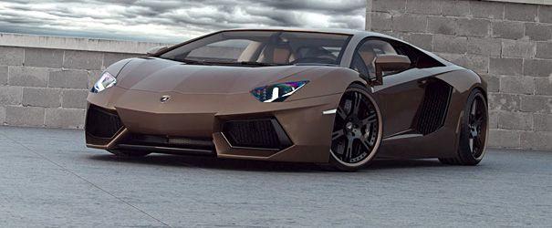 Er zijn maar weinig auto's die er goed uitzien in chocolade bruin. Deze Aventador door tuner Wheelsandmore is daar in ieder geval een uitzondering op. In combinatie met de speciale zwarte velgen maakt het de Italiaanse supersportwagen sinister en chic tegelijk. ++ ++ –