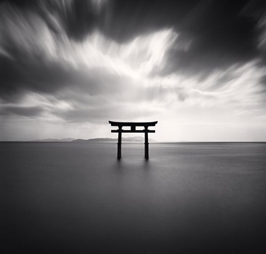 Michael Kenna - Torii, Study 2, Takaishima, Biwa Lake, Honshu, Japan, 2007