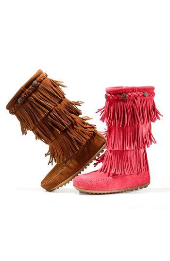 Minnetonka Fringe Boot (Walker, Toddler Little Kid) | Nordstrom UGG Australia's waterproof full-grain leather sheepskin snow boot for women - the Adirondack Tall http://uggonlineshow.blogspot.com/