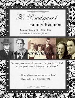 Family Reunion flyer ideas.
