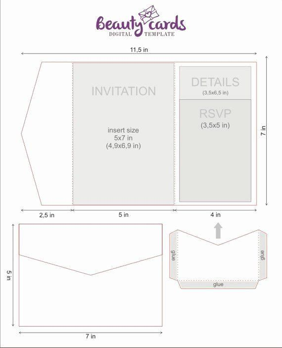 Diy Pocket Invitations Template 35 Tri Fold Wedding Invitations Template In 2020 Pocket Wedding Invitations Wedding Invitation Templates Tri Fold Wedding Invitations