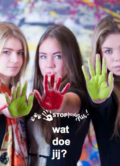 Poster 2, poster tegen pesten van Stop Pesten Nu