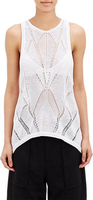 Helmut Lang Open-Work Knit Tank - Tanks & Camis - Barneys.com