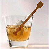 Gitarren Eiswürfelform mit Rührstab - Guitar Eiswürfelbereiter Cool Jazz Eiswürfelformer Eiswürfel Eiswürfelschale mit Rührstab