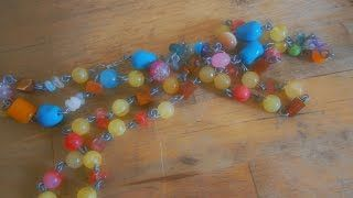 Diy How to make a wire beaded necklace  Olga's dreamland - YouTube