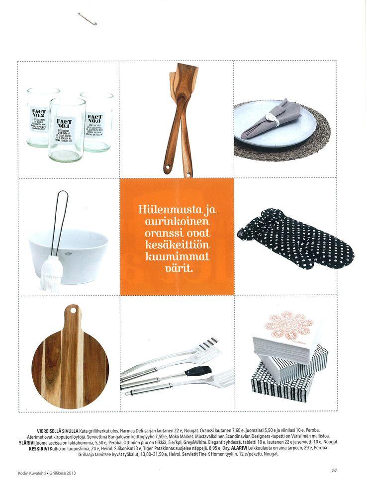 Steely grillausvälineet ja First posliiniastiat kuuluvat Grillikesään!   Kodin Kuvalehti: Grillikesä (nro 10/2013)