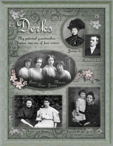 Derks...this traditionally designed scrapbook page in a monochromatic color palette has a simple heritage feel.
