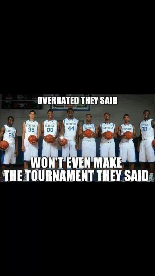 What up now haters!!! Kentucky wildcats, #BBN