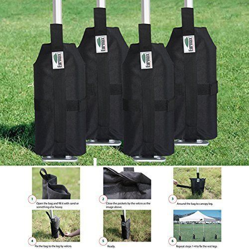 Weight Bags For Canopy Leg Tent Wind Protection Sand Bags Heavy Duty Set Of 4 & Best 25+ Sand bag ideas on Pinterest | Sandbag ideas One bag and ...