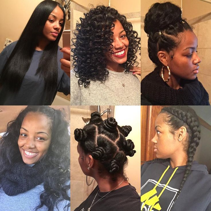 Even with heat damage, her natural hair is still versatile!