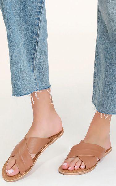 4b3fd2e2da2d Rebels Jenny Tan Leather Slide Sandals - BestFashionHQ.com