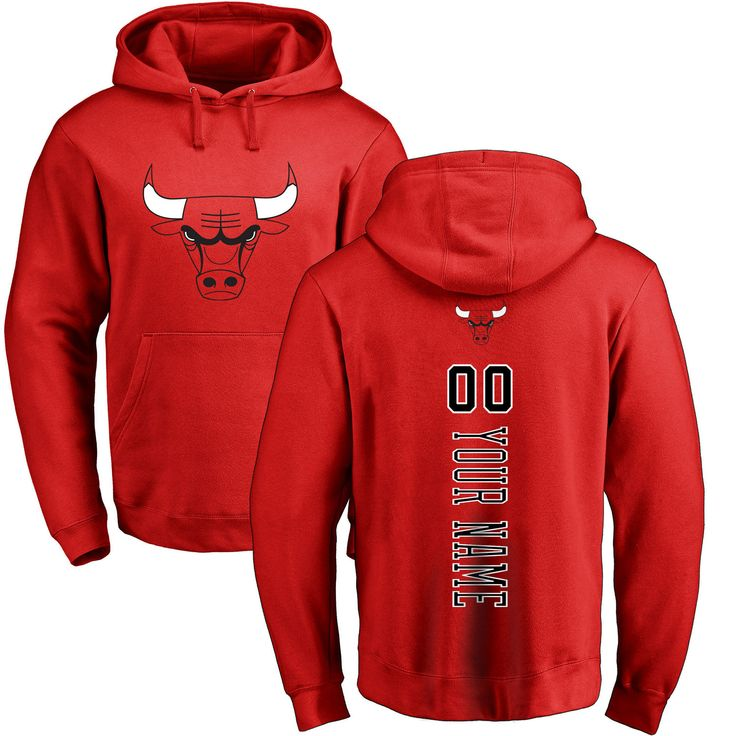 Men's Chicago Bulls Fanatics Branded Red Personalized Backer Pullover Hoodie - NBA Store