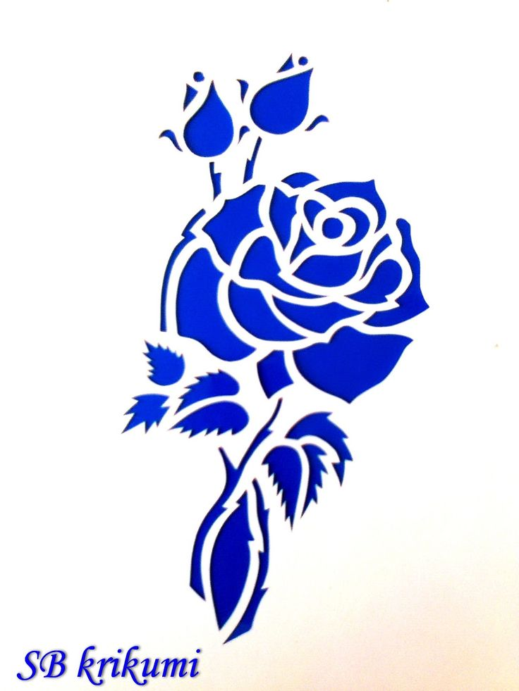 Открытка роза вырезать