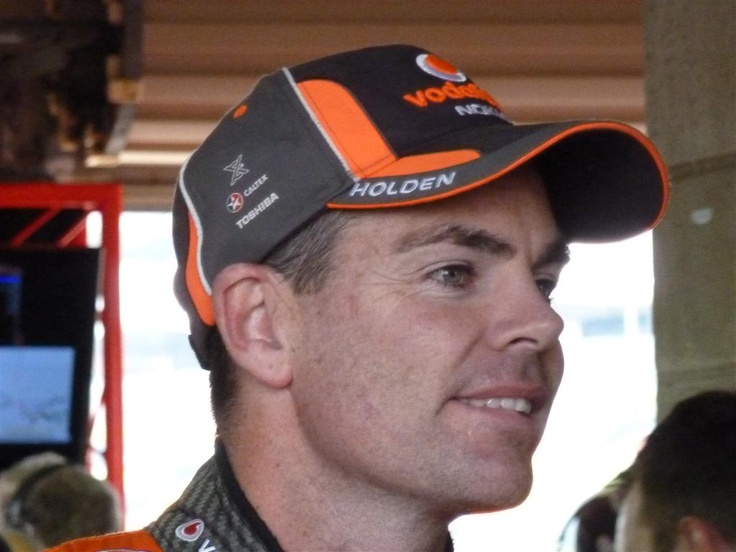 Craig Lowndes - great driver and all-round good guy. Thanks for your encouragement mate.