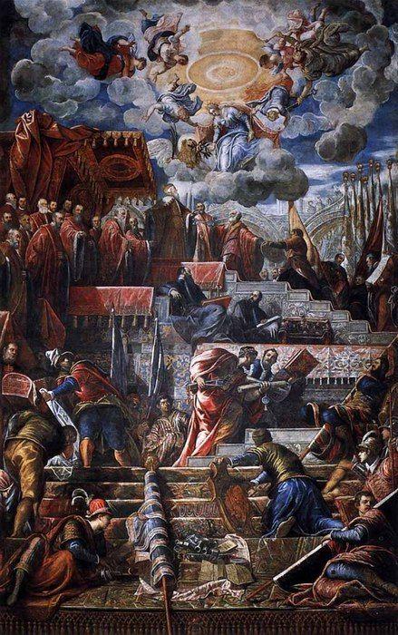 Дож Николо да Понте принимает лавровый венок из Венеции  1584  Палаццо Дукале  Венеция (439x700, 121Kb)