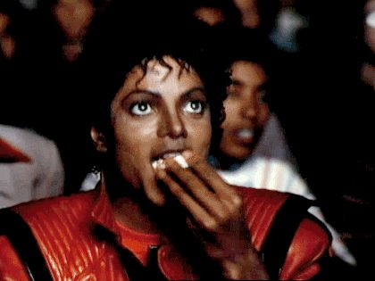 Michael Jackson eating popcorn- gosh i MISS HIM- he was actually really funny...