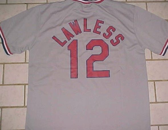 Tom Lawless 12 St. Louis Cardinals MLB Promotion Night Gray Pullover Jersey XL #StLouisCardinals #StLouisCardinals