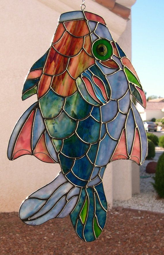 1000 images about stained glass fish on pinterest for Stained glass fish