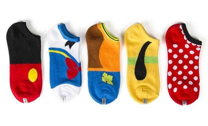 Disney Find- Adorable Fab Five Disney Themed Socks