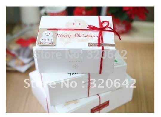Бесплатная доставка рождественский торт коробка, Торт упаковка, Кекс коробка, Розовый печенья / шоколад / подарок удобный коробка, 10 шт./лот, 20.5 * 15 * 8.6 см
