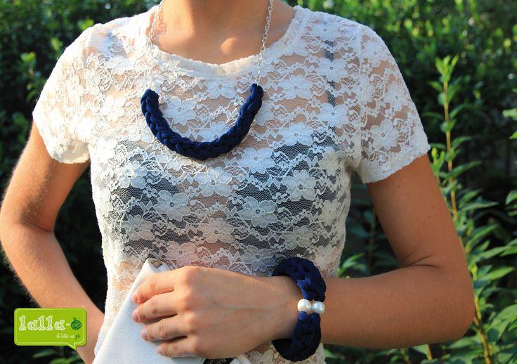 tricotin bracciale e collana