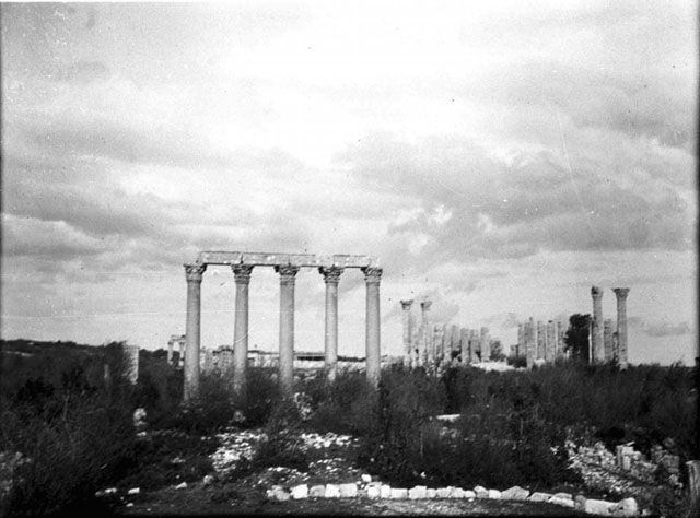 Όλβα Κιλικίας-Temple of Tyche (at western end of colonnaded street) - from E showing five marble columns. Temple dedicated to goddess of good fortune Date taken: May 1905	 Photographer: Gertrude Bell  Location: Uzuncaburç-Turkey Subject date: 1st C  Temple of Tyche (at western end of colonnaded street) - from E showing five marble columns. Temple dedicated to goddess of good fortune