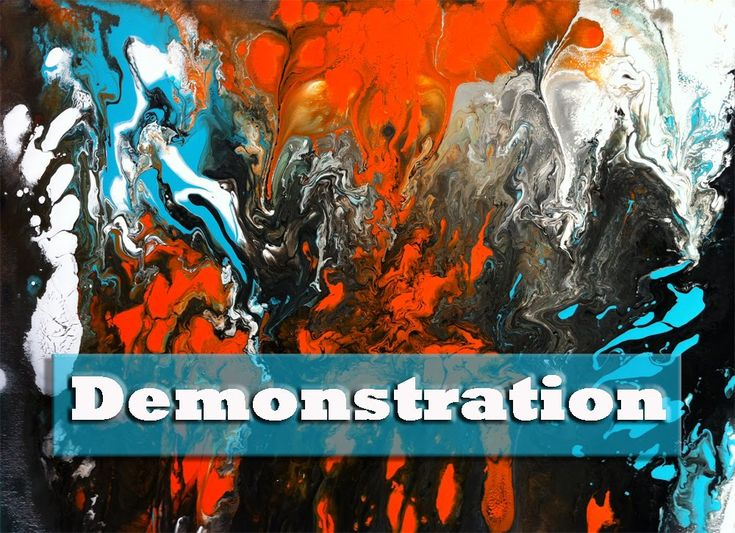 Abstract Painting Demo, Abstract Art Painting, Abstrakte Malerei, Fluid .