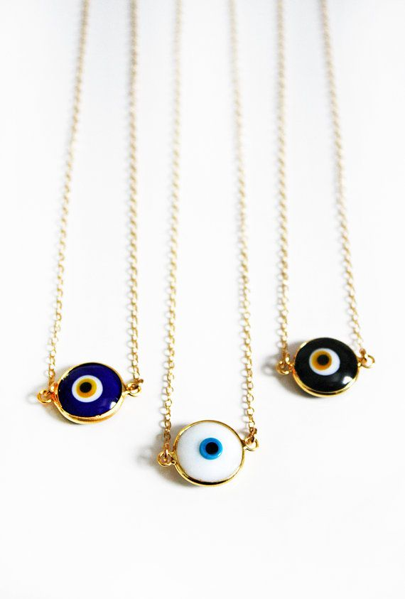 EVIL EYE coin necklace by shopkei on Etsy, $39.00