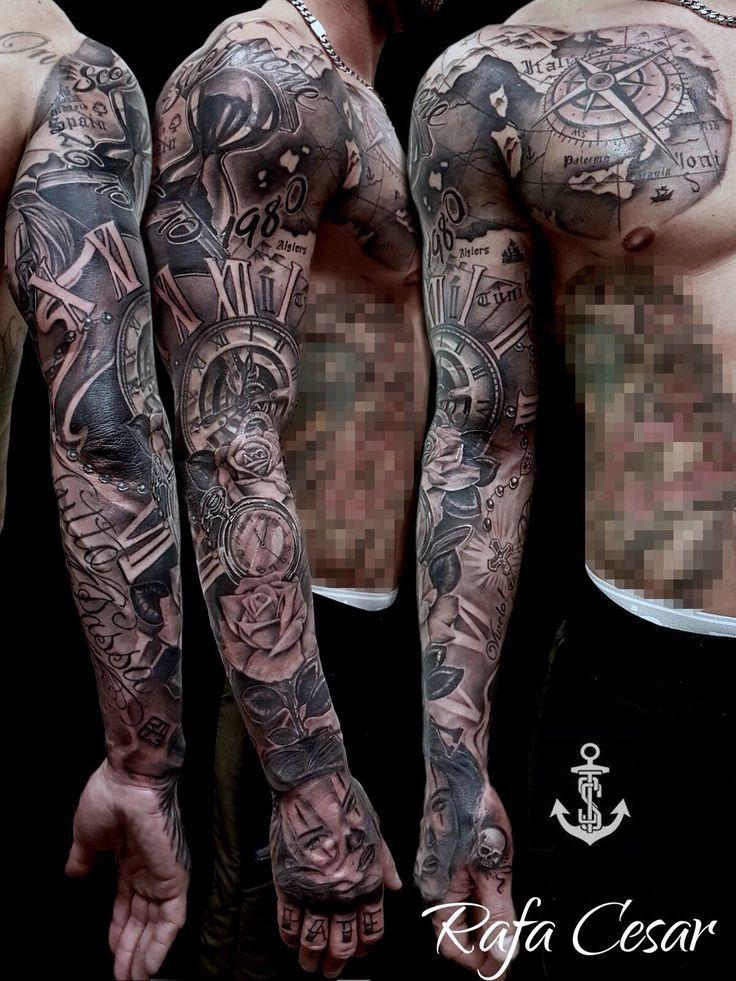 Chicano Ärmel Tätowierung  #armel #chicano #tatowierung