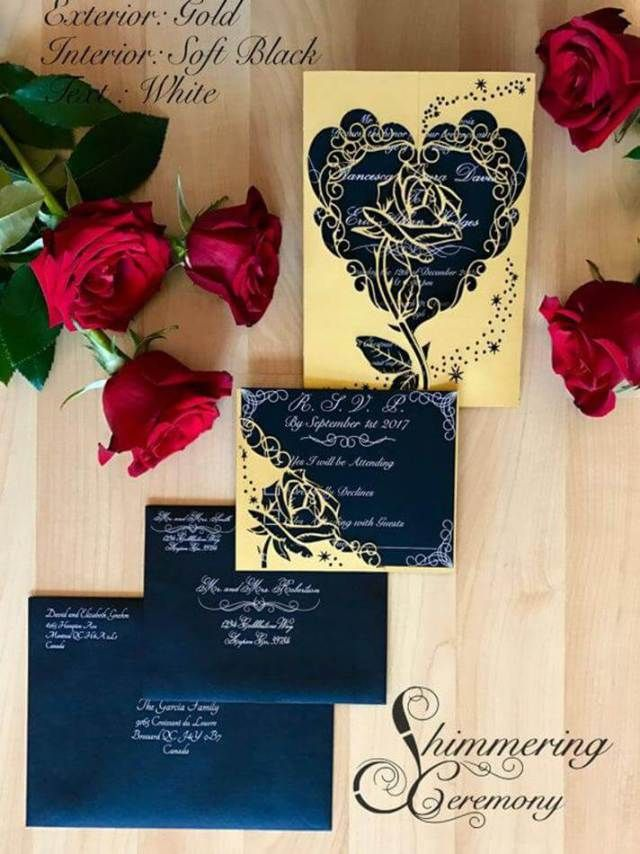 Beauty And The Beast Wedding Invitations 9