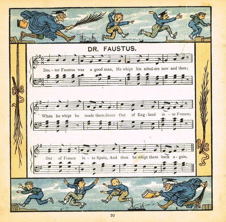 "Walter Crane Baby's Opera - ""DR. FAUSTUS"" - Children's Lithogrpah - 1870"