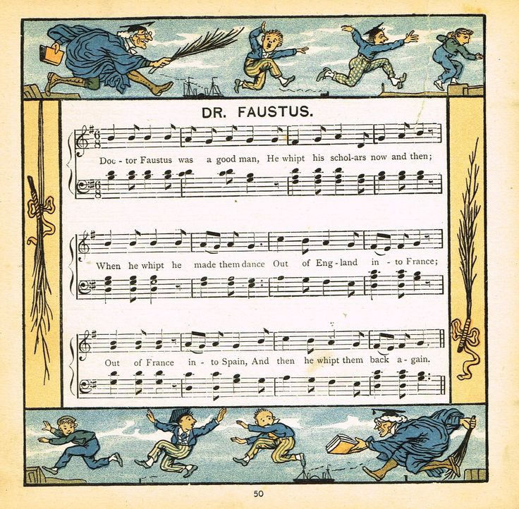"Walter Crane Baby's Opera - ""DR. FAUSTUS"" - Children's Lithogrpah - 1870"