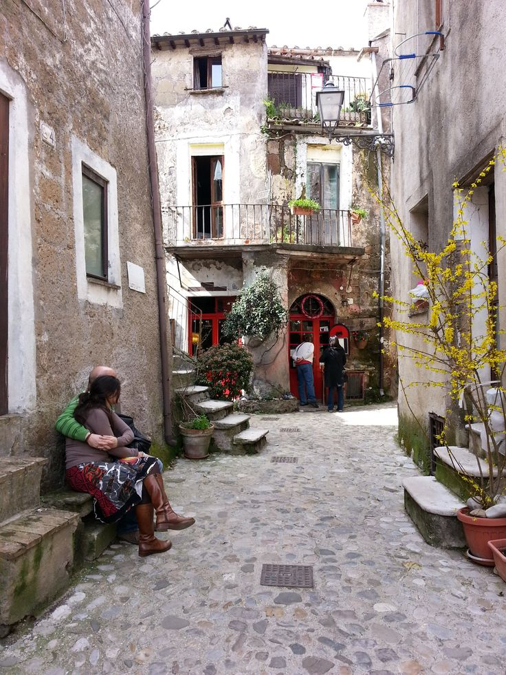 The lovely streets of the medieval town Calcata