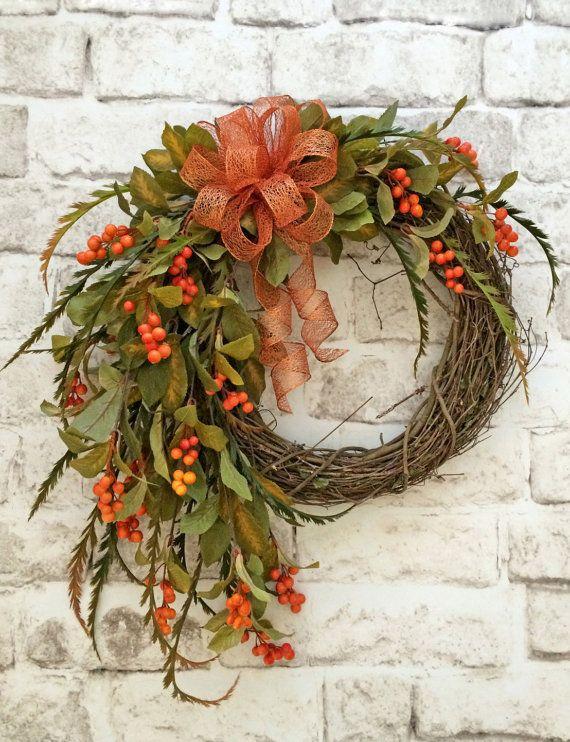 Best 25+ Fall wreaths ideas on Pinterest | Thanksgiving ...