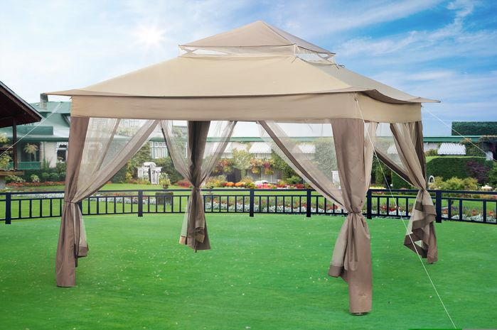 10 Ft. W x 10 Ft. D Metal Portable Gazebo