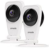 Zmodo EZCam 720p HD Wi-Fi Wireless Security Surveillance IP Camera System with Night Vision – Cloud Service available   24/7 720p High Definition Live Video – 115° wide angle 720p HD gives you clear images day or night. Adjustable night vision sensitivity allows you to control the...