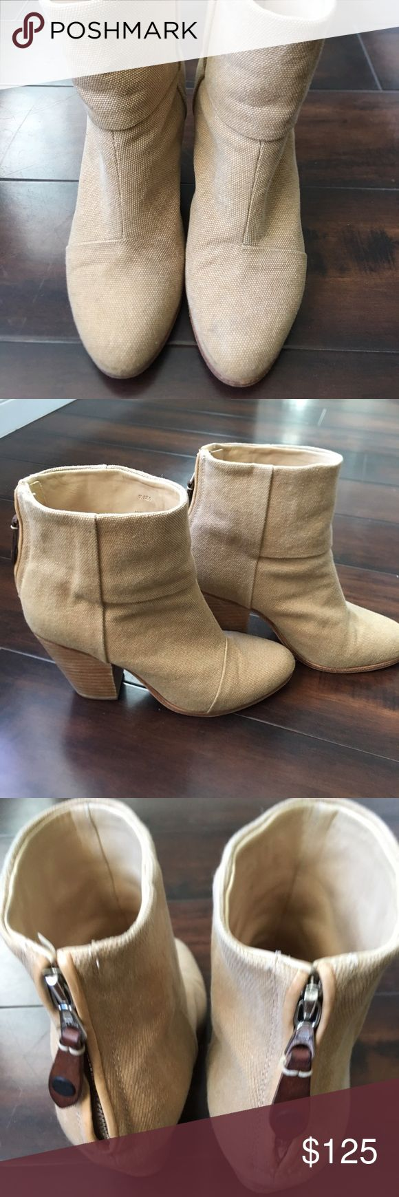 Rag and Bone Booties Great neutral boot. Back zip. Great condition. rag & bone Shoes Ankle Boots & Booties