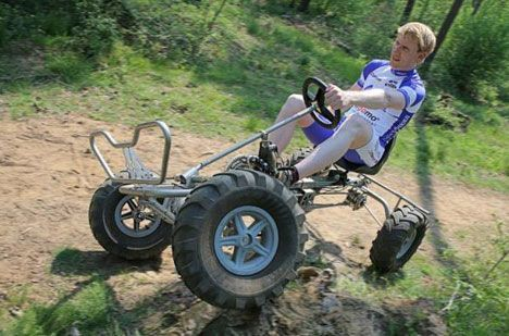 Four wheeled bikes, pedal powered quad bikes, quadracycles. Call them what you will, they still promote the idea that human propelled transport can be both fun and functional. Below we have gathered just some of the versions that we\u0027ve spied over the