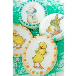 Easter Wafer Paper ~ Easter Assorted Bunnies and Chicks Wafer Paper