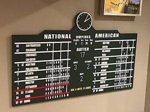 Replica Wrigley Field Scoreboard Chicago Cubs Sign - 2016 World Series Champions | eBay