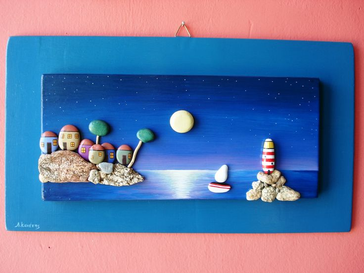 WOOD AND STONES PAINTING