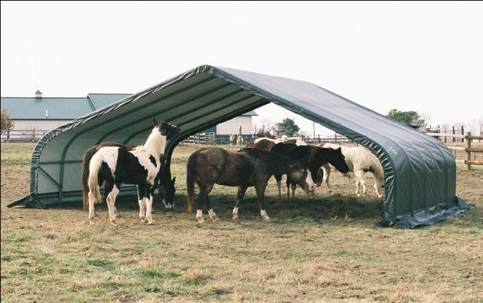 Portable Horse Shelter Kits : Best horses shelters and hay storage images on