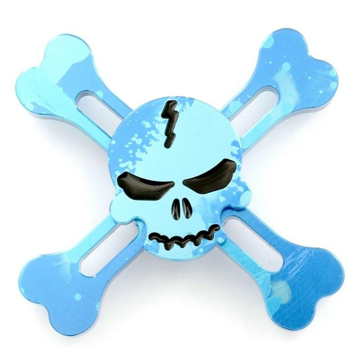 Skeleton Head Fidget Spinner Colorful Version
