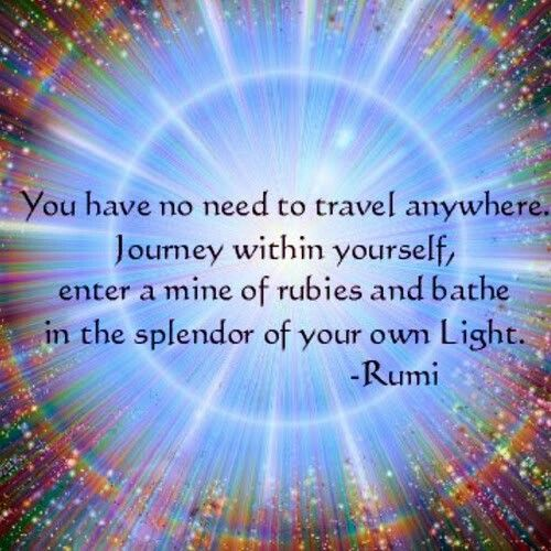 The splendour of your own light.                                                                                                                                                                                 More