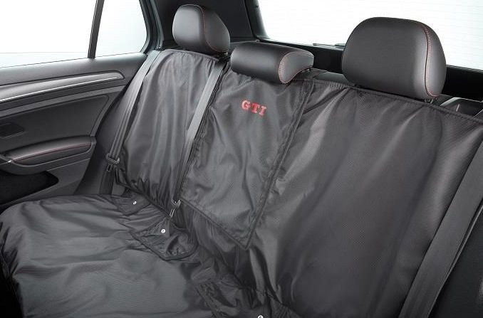 Vw Rear Seat Cover With Gti Logo Black Brand New Oem