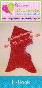 E-Book Schlupfhaube zum Wenden klein – Kopfumfang 35 cm – 49 cm | www.herzblaettchen.at | Bloglovin'