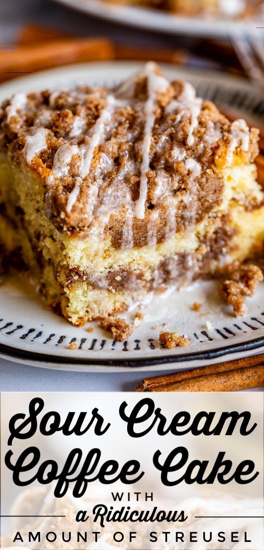 Sour Cream Coffee Cake With A Ridiculous Amount Of Streusel From The Food Charlatan Sourcream In 2020 Kaffee Kuchen Rezepte Kaffee Und Kuchen Dessert Ideen